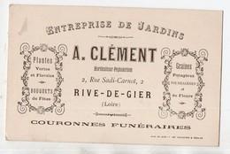Rive De Gier (42 Loire)   : Carte Professionnelle A CLEMENT : Entreprise De Jardins  (PPP21642) - Publicités