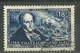 FRANCE Oblitéré 816 Francois René Vicomte De Chateaubraind Chateau De Combourg - Frankreich