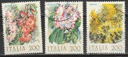PIA - ITALIA  - 1983  :  Fiori D'Italia - Gladiolo, Mimosa E Rododendro     -  (SAS  1637-39 ) - Flora