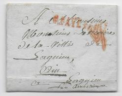 1806 - LETTRE PORT-PAYE De PARIS + VERIFICATION ROUGE - Marcophilie (Lettres)