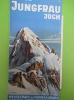 Dépliant Accordéon/SUISSE/ Jungfrau Joch/ Vers 1950-1960         PGC396 - Tourism Brochures