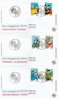 France FDC 2007 - Les Voyages De Tintin - FDC