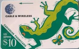 CARAÏBES  -  Phonecard  -  Cable § Wireless - Lezard  -  $10 - Altri – America
