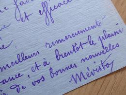 MEVISTO Chansonnier Montmartre - Autografi