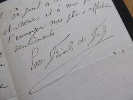 Emile Gustave FRISCH De FELS (1849-1925) Armateur à MARSEILLE. Consul Danemark. AUTOGRAPHE - Autographes