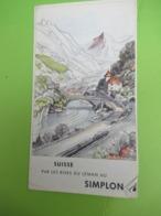 Dépliant Accordéon à 5 Volets/SUISSE/Par Les Rives  Du Léman Au Simplon/Chemin De Fer Fédéraux Suisses/1951      PGC397 - Tourism Brochures