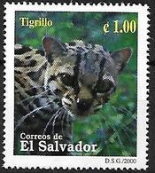 EL SALVADOR - MNH 2000 - Biodiversidad Del Parque Nacional El Imposible : Tigrillo - Raubkatzen