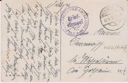 Deutsche Feldpost 1 Weltkrieg Kte Zeppelin 1917 - Lettres & Documents