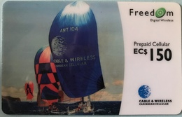 CARAÏBES  -  Prepaid  -  Cable § Wireless   -  Freedom  -  EC$150 - Altri – America