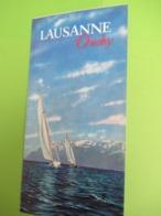 Dépliant Accordéon à 4 Volets/SUISSE/Lausanne Ouchy//1954      PGC398 - Tourism Brochures