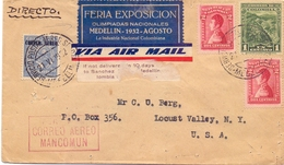 COLOMBIA AIR MAIL FANTASTIC COVER 1932  (FEB201182) - Colombia