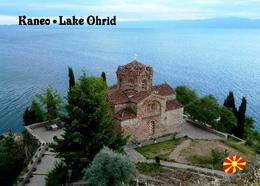 Lake Ohrid Kaneo Church UNESCO New Postcard Mazedonien AK - Mazedonien