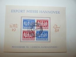 BLOCS DE 4 EXPORT MESSE HANNOVER ALLEMAGNE 1948 ZONE AAS - Gemeinschaftsausgaben