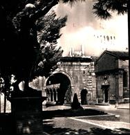 92748) CARTOLINA DI FANO-STATUA E ARCO DI AUGUSTO-CHIESA S. MICHELE-VIAGGIATA - Fano
