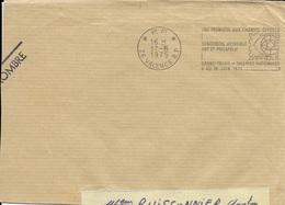 DROME 26 -  VALENCE -  RENCONTRE MONDIALE ART ET PHILATELIE - DESCRIPTION   - 1975 -  EN PORT PAYE - Marcophilie (Lettres)