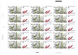 BUZIN Oiseau Mésange Bleue Feuille De 15 Timbres Bpost 1 - Feuilles Complètes