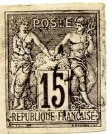 Sage De 1877-79 N°33-Classiques Colonies Francaises-recto Et Verso Signé-cote 85 Euros - Sage