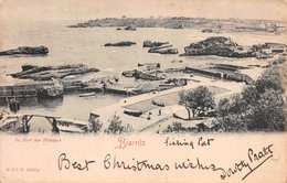 CPA -BIARRITZ - LE PORT DES PÊCHEURS - POSTED DECEMBER 1901 ~ A 119 YEAR OLD CARD #21503 - Biarritz