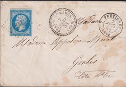 LETTRE DE HAUTE-SAONE AVEC PC DE FRESNE-ST MAMES ENVELOPPE SC 1858 TB - Marcophilie (Lettres)