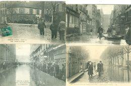 Lot De 100 CPA Sur Les Inondation De 1910 En Ile De France - Postcards