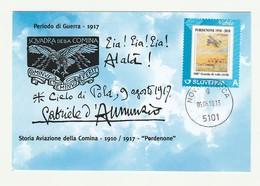 Cartolina STORIA AVIAZIONE COMINA 1910/1917 PORDENONE Centenario Scuola EIA EIA - Manifestazioni