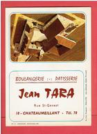 CHATEAUMEILLANT BOULANGERIE PATISSERIE JEAN TARA RUE SAINT GENEST CALENDRIER 1972  EN TRES BON ETAT - Châteaumeillant