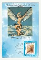 Cartolina STORIA AVIAZIONE COMINA 1910/1917 PORDENONE Centenario Scuola ICARO - Manifestazioni