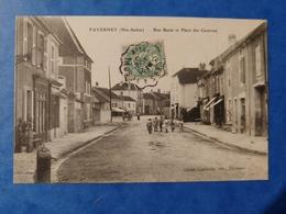 Faverney Rue Basse Et Place Des Casernes Cachet Courrier Convoyeur  Haute Saône Franche Comté - Altri Comuni