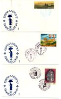 17 Cartas De Espamer 77 Con Matasellos De Diferentes Lugares. - 1931-Hoy: 2ª República - ... Juan Carlos I