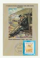 Cartolina STORIA AVIAZIONE COMINA 1910/1917 PORDENONE Centenario Scuola PIONIERI - Manifestazioni