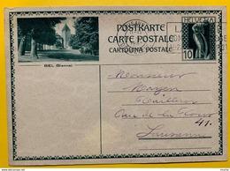 9712 - Entier Postal  Illustration Biel Lausanne 11.08.1931 - Enteros Postales