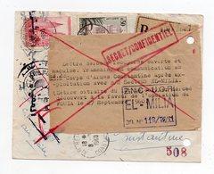 !!! PRIX FIXE: GUERRE D'ALGERIE, LETTRE RECO D'AIN BEIDA DU 8/9/1960 DEROBEE PAR L'ALN ET RECUPEREE - Guerra D'Algeria