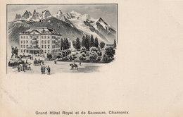 Chamonix Hotel Royal De Saussure Antique Switzerland French Postcard - Unclassified
