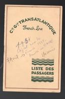 (paquebots) CGT Liste Des Passagers 1934 Paquebot MACORIS  : Port Au Prince   Au Havre  (PPP21649) - Alte Papiere