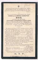 Dp. Dox Isabella. Wed. Coveliers Joannes. ° Meerhout-Gestel 1815 † Gheel 1905 - Godsdienst & Esoterisme