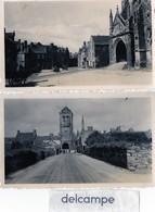 2 Photos Anciennes - Finistère  -  LOCRONAN  ( Musée, Voitures Anciennes) - Lieux