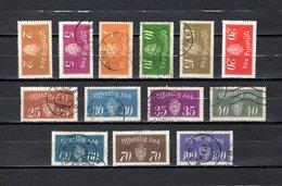 Noruega  1933-37  .-  Y&T   Nº   9/21     Servicio - Dienstmarken
