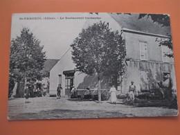 SAINT FARGEOL (Allier)_Le Restaurant DECHARTRE_avec Animation_voyagée En 1919_TBE - France