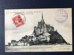 CPA Mont Saint Michel Vue Générale Côté Nord Est Cachet Abbaye Manche 1919 - Le Mont Saint Michel