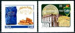 """ITALIA / ITALY 2016** - Made In Italy - Biscottificio """"Antonio Mattei"""" E Riso """"Gallo"""" - 2 Val. MNH Autoadesivi. - Fabbriche E Imprese"""