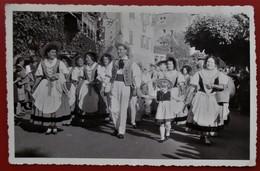 Carte Photo LAUSANNE Anime Fete Folklore Costumes Vaudois Daguin - VD Vaud