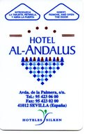 HOTEL SILKEN AL ANDALUS PALACE  SEVILLA , PUBLICIDAD SATELITE CANAL DIGITAL TV  - LLAVE KEY KEYCARD HOTELKARTE CLEF - Hotelaufkleber