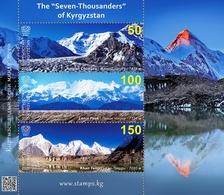 "Kyrgyzstan 2020 MS MNH The ""Seven-Thousanders"" Mountains  Of Kyrgyzstan Mountain Montagnes Montagne - Geology"