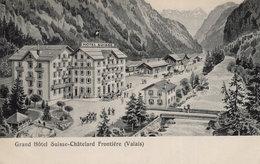 Grand Hotel Suisse Chatelard Frontiere Antique Switzerland Postcard - Unclassified