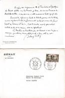 1875/1975 Centenaire Du SÉNAT - Texte Imprimé D'Alain POHER Président Du Sénat - Enveloppe Commémorative - Historische Documenten