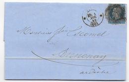 1859 - LETTRE Avec CERCLE De POINTS DIAM 23 Mm De PARIS => ANNONAY - 1849-1876: Période Classique