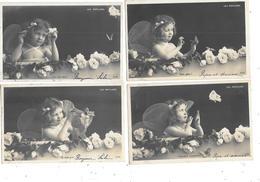 11402 - Lot De 6 CPA  Enfants, Série Les PAPILLONS, - Portraits