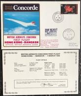 Premier Vol - Concorde - British Airways - Hong Kong - Bangkok - 1985 - Concorde
