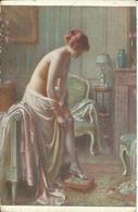 NU De D. ENJOLRAS , Le Lever ; Getting Up. , El Levantar ; La Levata Po Wstaniu Z Lozka - Paintings