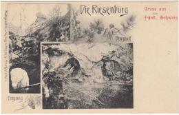 AK Gruss Aus Der Fränkischen Schweiz, Die Riesenburg, Burghof, Eingang, Ungel. - Non Classificati